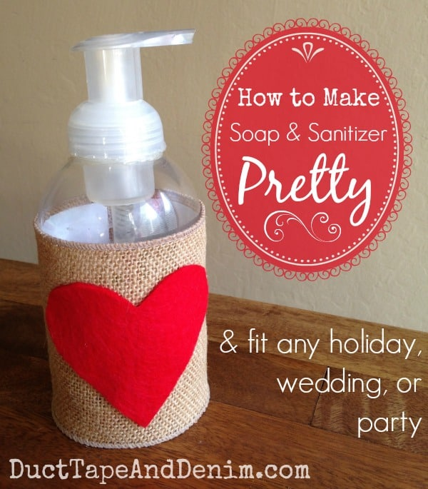 DIY Wedding Soap, How to Make Soap and Sanitizer Pretty
