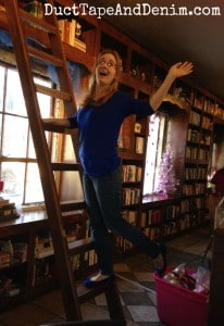 Lauren reenacts her favorite scene from Beauty and the Beast at Storiebook Cafe in Glen Rose, Texas | DuctTapeAndDenim.com