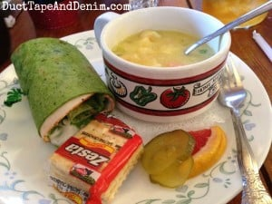 My lunch at Storiebook Cafe in Glen Rose, Texas   DuctTapeAndDenim.com