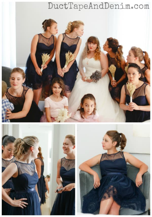 Our beautiful bridesmaids | DuctTapeAndDenim.com