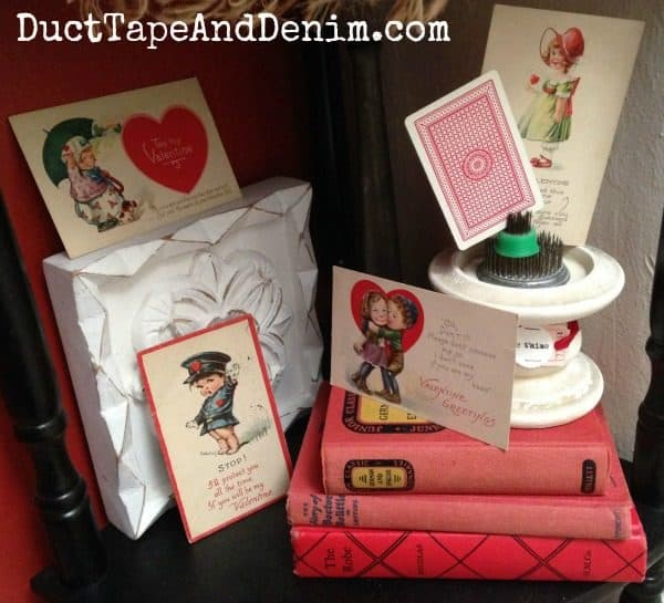 Part of my vintage Valentine's Day postcard collection ~ Valentine Tree ~ DuctTapeAndDenim.com