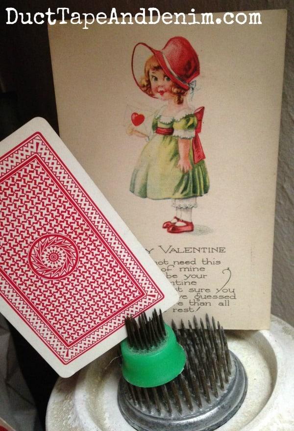 Vintage Valentine's Day postcard from my collection ~ Valentine Tree ~ DuctTapeAndDenim.com