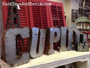 CUPID metal letters at the Spotted Cow in Walnut Creek, California | DuctTapeAndDenim.com