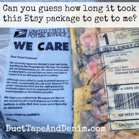 The Story of an Etsy Package
