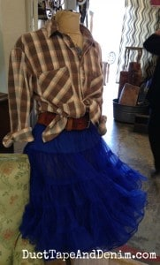 Cute dressed up mannequin at the Spotted Cow in Walnut Creek, California | DuctTapeAndDenim.com
