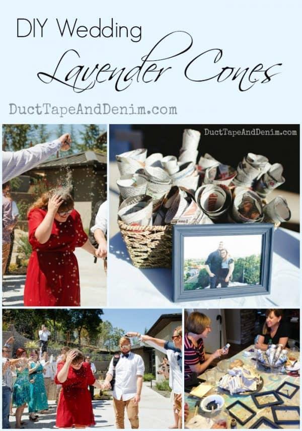 DIY Wedding Lavender Cones | DuctTapeAndDenim.com