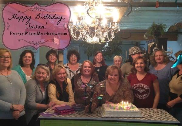 Happy birthday, Susan! At Paris Flea Market, Livermore, California