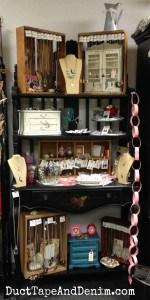 My shelf at Paris Flea Market, Livermore, California.   DuctTapeAndDenim.com