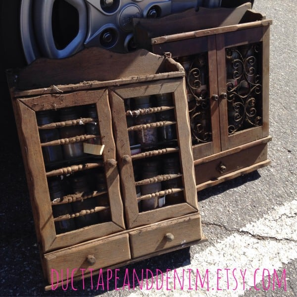 Dirty spice cabinets bought at a swap meet in Lompoc, California | DuctTapeAndDenim.com