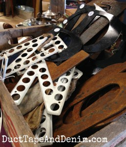 Rusty vintage letters at the Spotted Cow in Walnut Creek, California | DuctTapeAndDenim.com