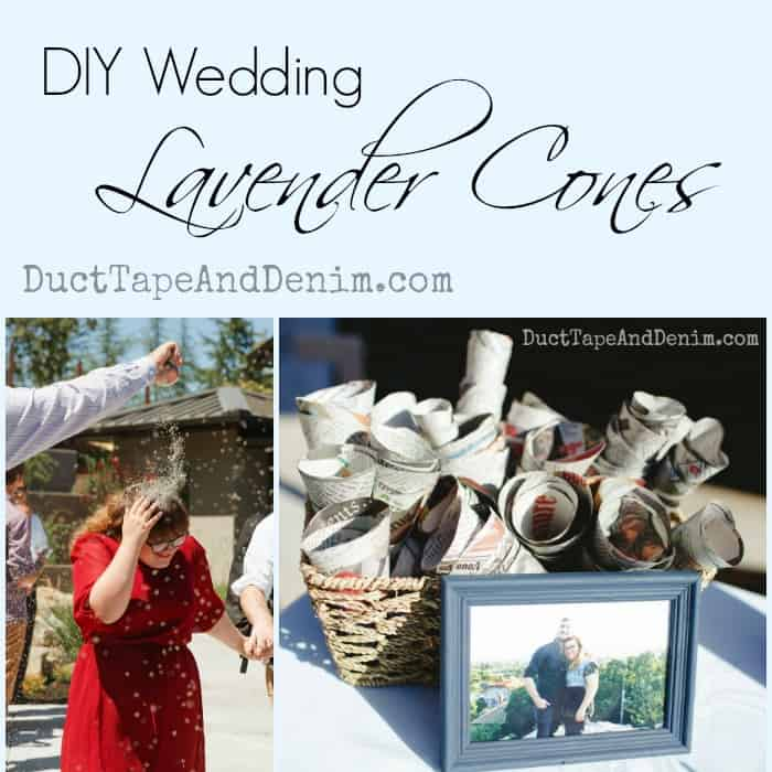 DIY Wedding Lavender Toss Cones