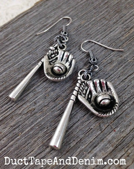 Baseball earrings and more sports and team jewelry | DuctTapeAndDenim.com