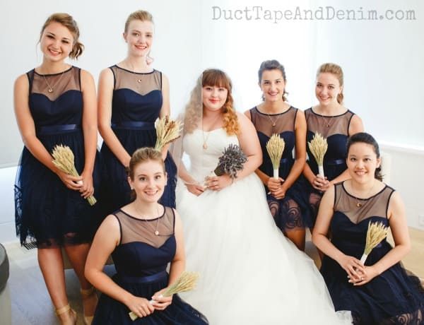 Beautiful bride and bridesmaids for our summer wedding | DuctTapeAndDenim.com