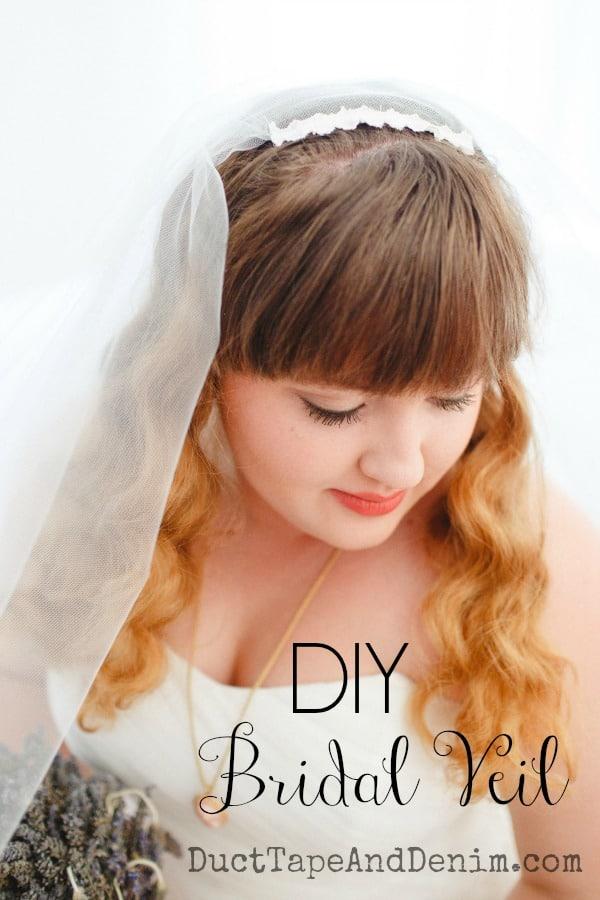 DIY Bridal Veil | More DIY wedding ideas at DuctTapeAndDenim.com