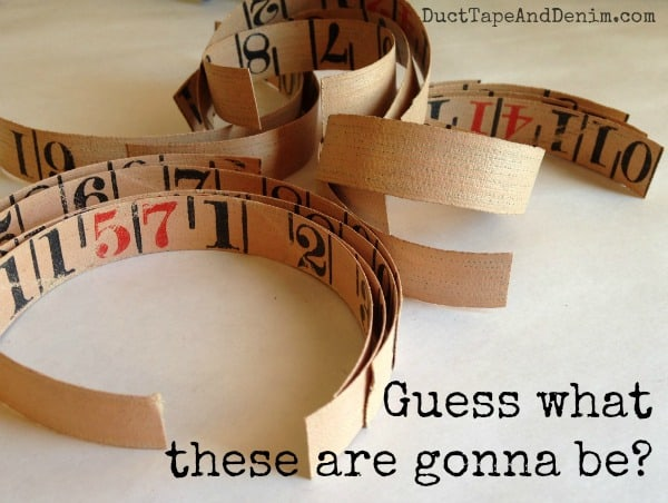 Guess what these are gonna be. Tape measure bracelet tutorial with video | DuctTapeAndDenim.com