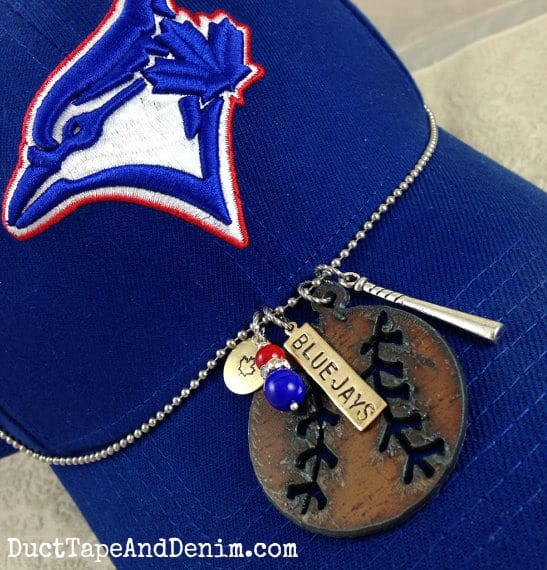 I Love Baseball Necklace for Toronto Blue Jays fans | DuctTapeAndDenim.com