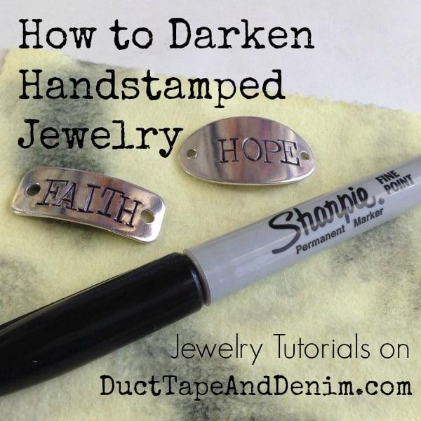 How to Darken Handstamped Jewelry Tutorial {VIDEO}