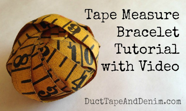 Tape measure bracelet tutorial with video | DuctTapeAndDenim.com