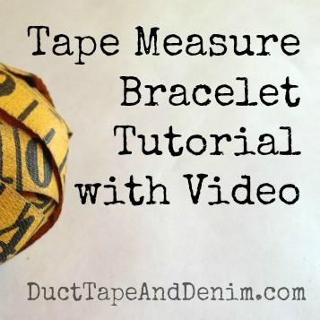 Tape Measure Bracelet Tutorial {VIDEO}