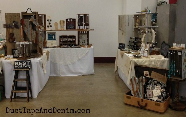 My booth at the Roses and Rust Vintage Market | DuctTapeAndDenim.com