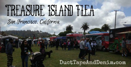 Treasure Island Flea Market, San Francisco, California, March 2015, video tour of my booth | DuctTapeAndDenim.com