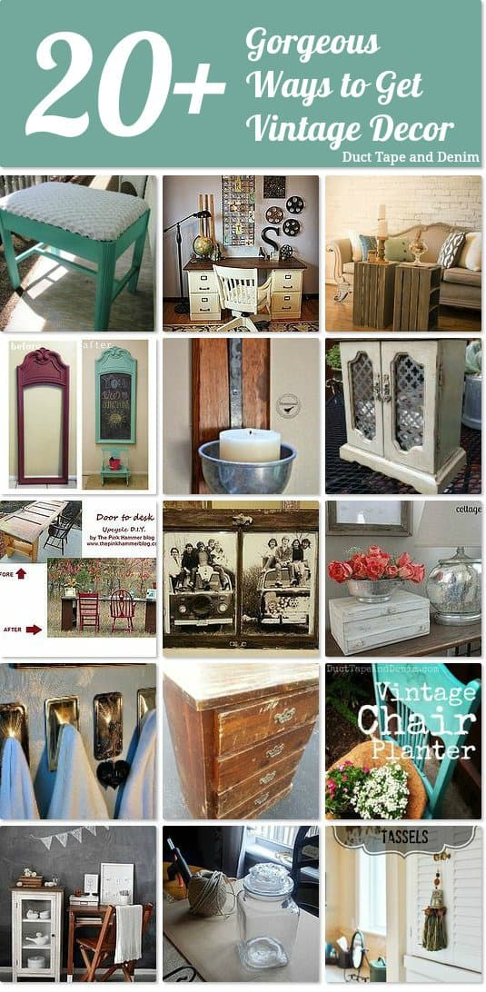 Hometalk board 20+ Ways to Bring in Vintage Decor, vintage makeovers | DuctTapeAndDenim.com