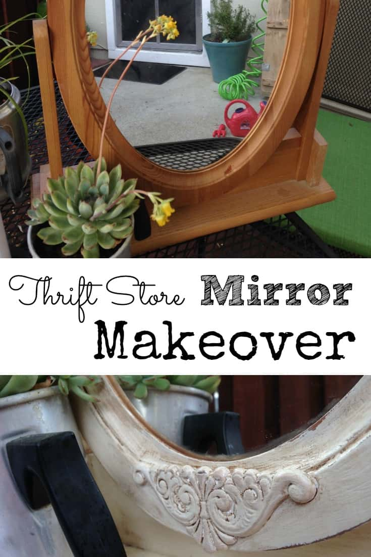 Thrift Store Mirror Makeover - Before and After Photos | DuctTapeAndDenim.com