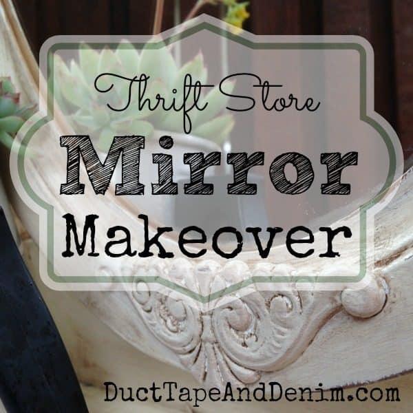 Thrift Store Mirror Makeover | DuctTapeAndDenim.com