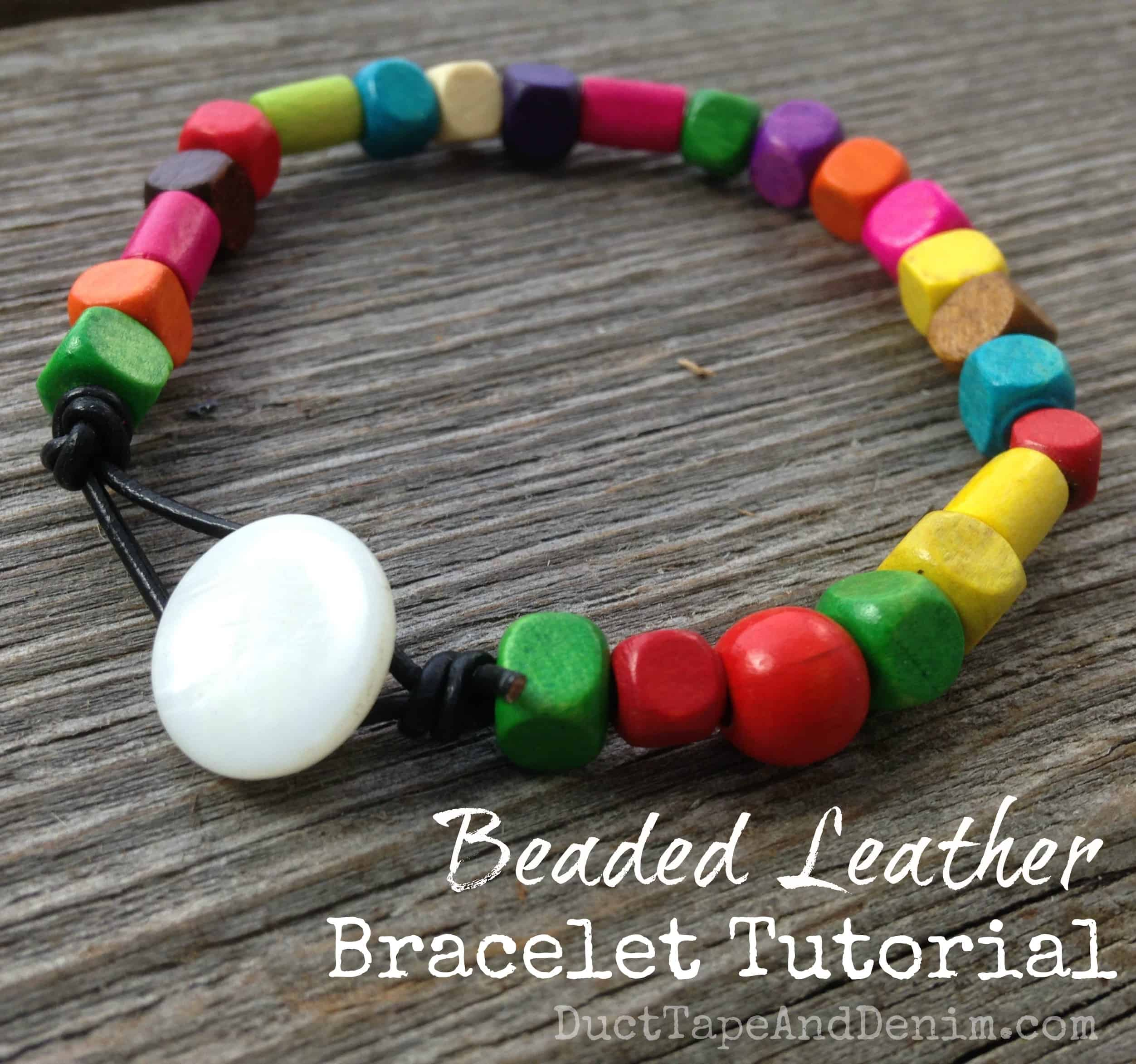 delicate beaded leather coloured bracelet tutorial bracelets diy