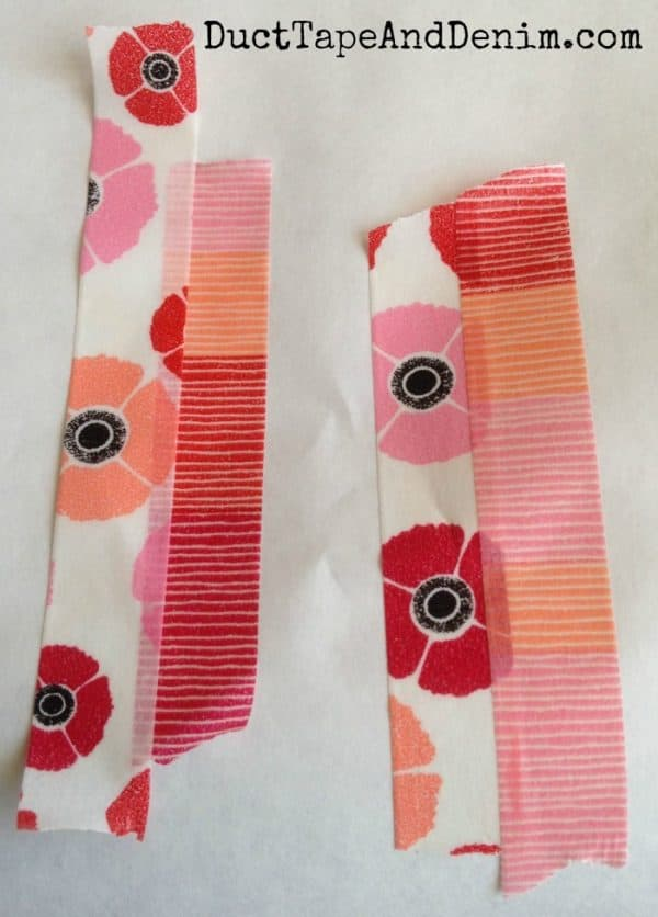 How to make washi tape feather earrings | DuctTapeAndDenim.com