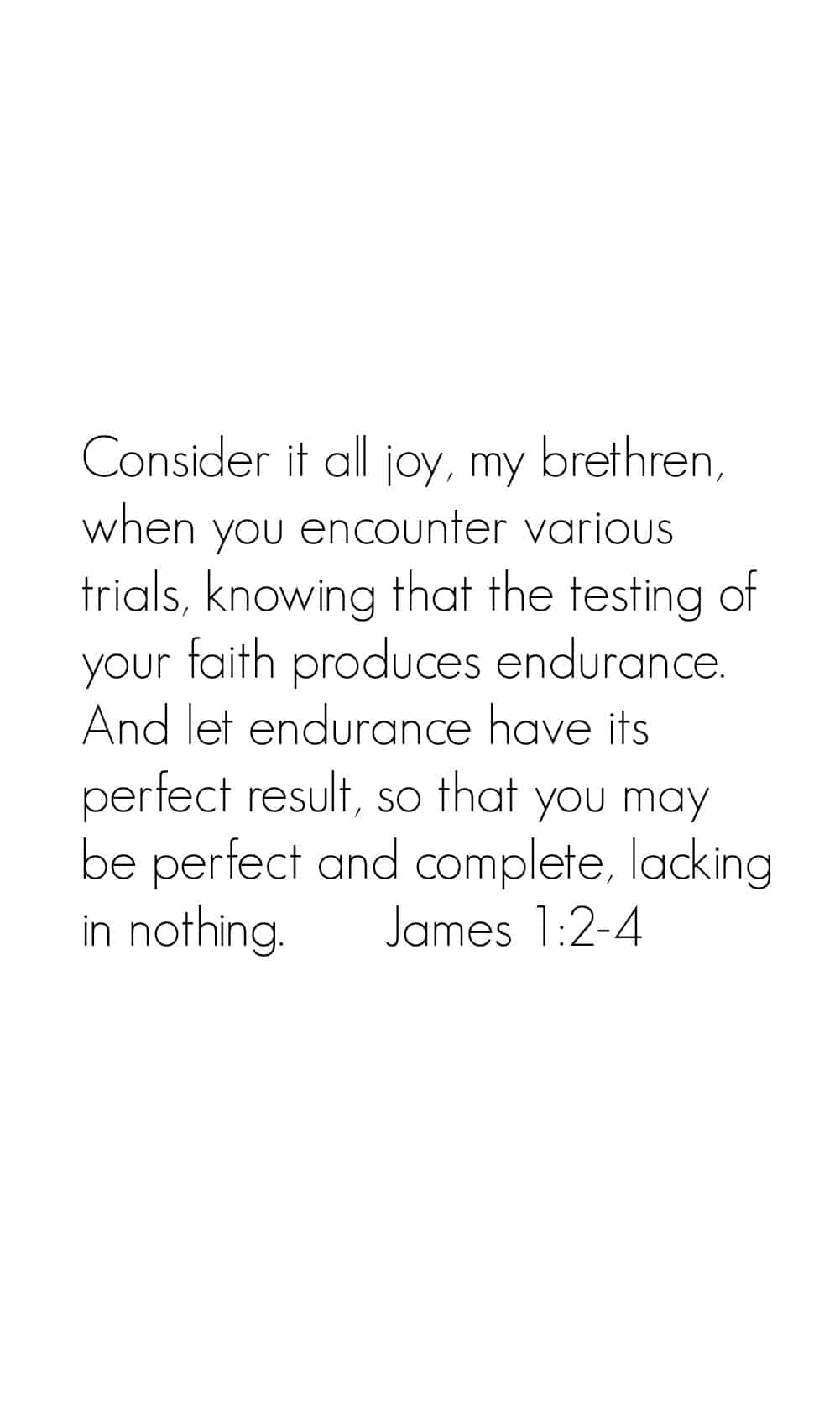 iPhone Bible Verse Wallpaper | James 1:2-4