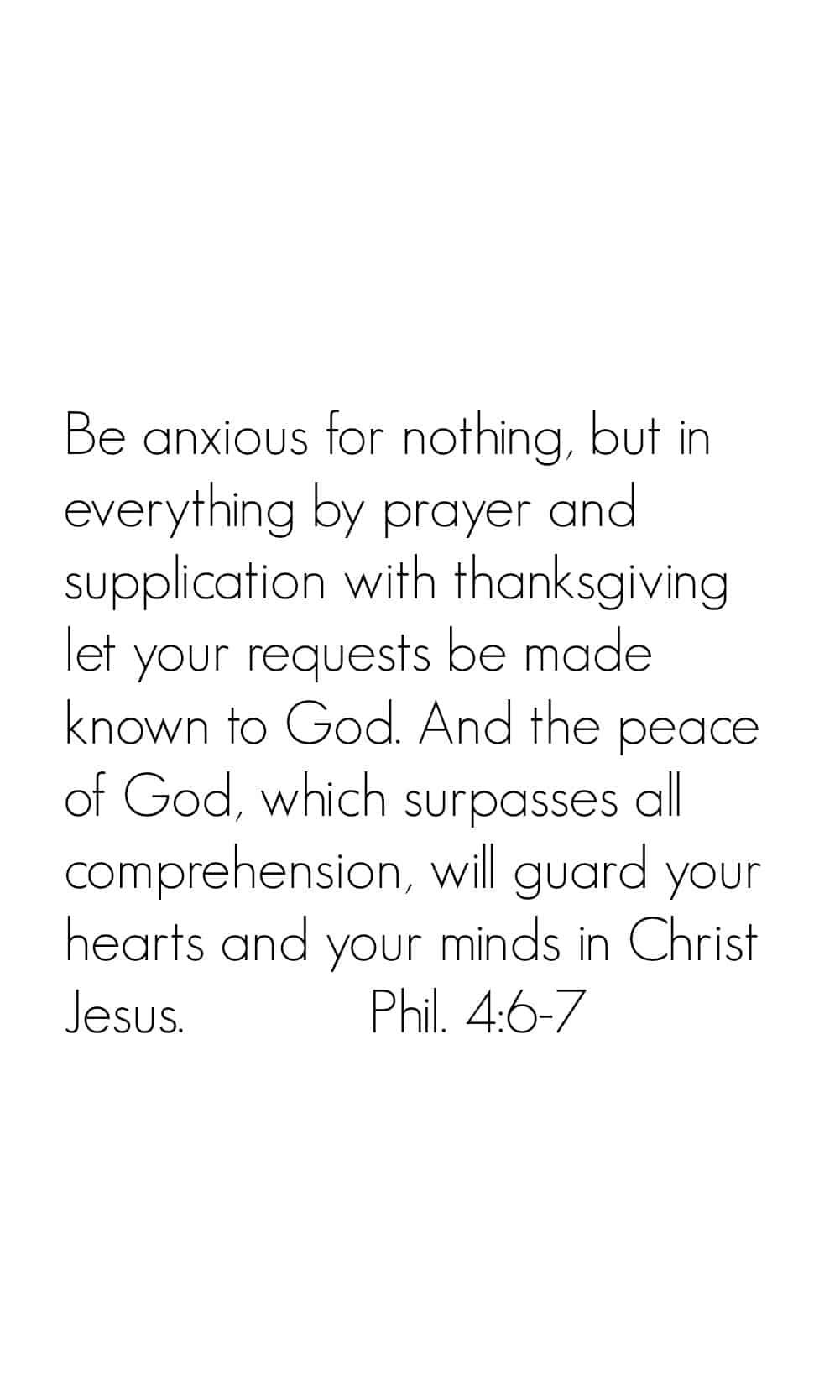 Philippians 4:6-7 Bible Verse iPhone Wallpaper