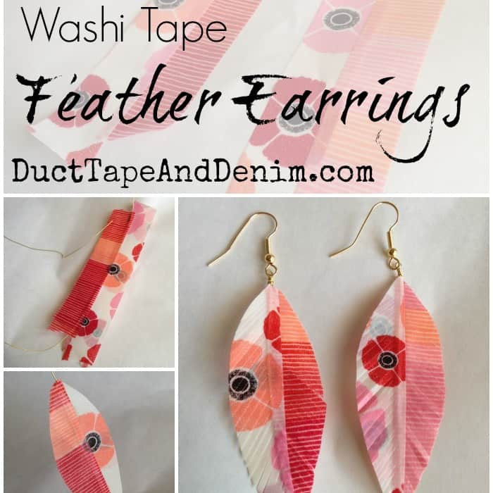 Washi Tape Feather Earrings | Easy DIY Craft