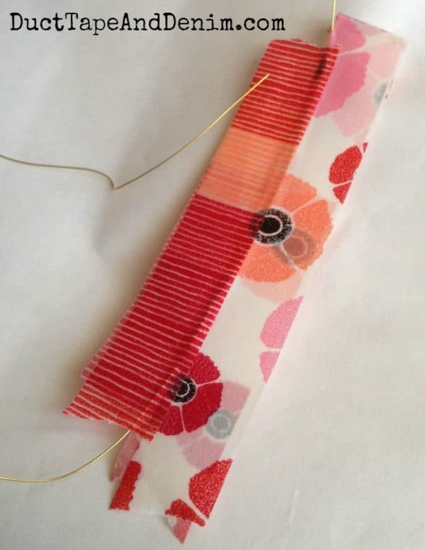 Washi tape feather earrings tutorial | DuctTapeAndDenim.com