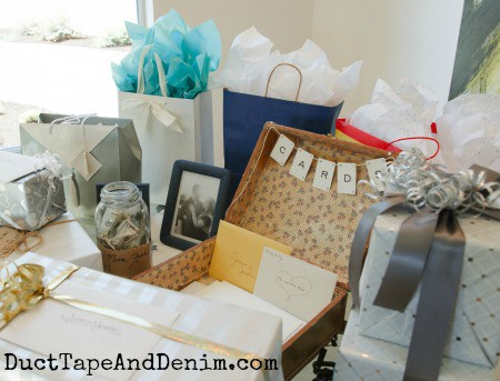 Wedding gift table | DuctTapeAndDenim.com