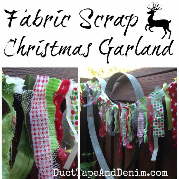 Scrap Fabric Christmas Garland
