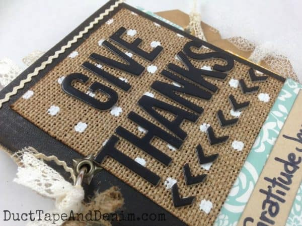 GIVE THANKS gratitude journal cover