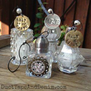 My vintage salt shaker handmade Christmas ornaments | DuctTapeAndDenim.com
