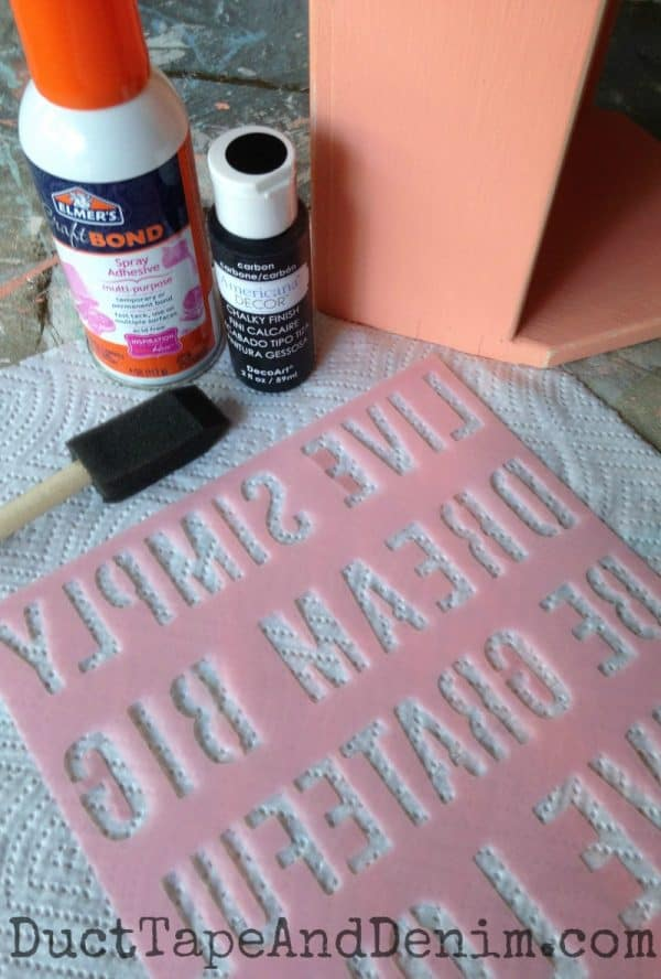 Supplies to stencil my tool box | DuctTapeAndDenim.com
