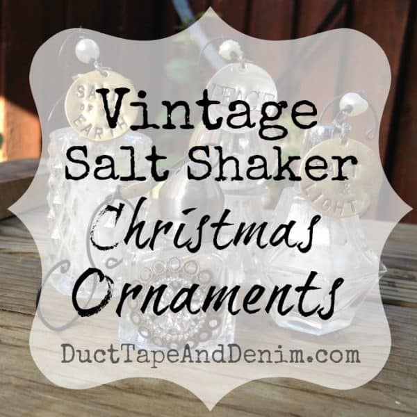 Vintage Salt Shaker Christmas Ornaments   DuctTapeAndDenim.com