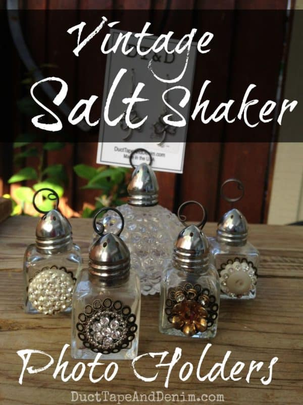 Vintage Salt Shaker Photo Holders DIY