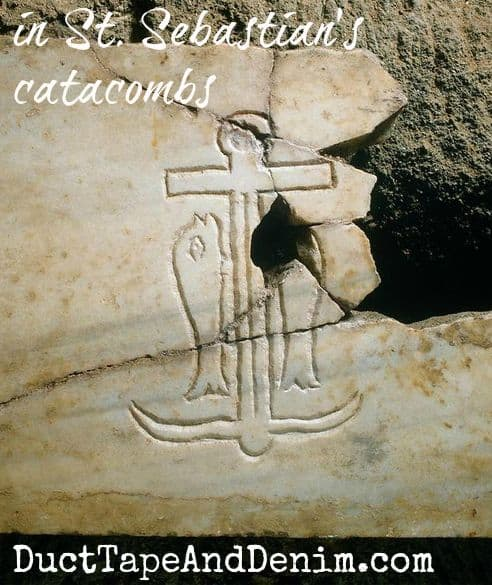 Anchor from Catacombs of St Sebastian in Rome | DuctTapeAndDenim.com