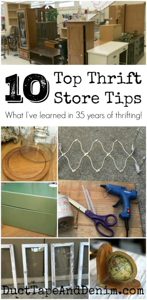 10 top thrift store tips. What I've learned in 35 years of thrifting. | DuctTapeAndDenim.com