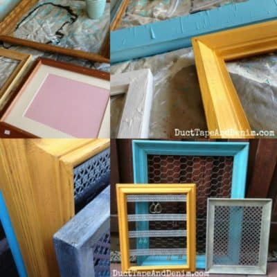 How to Turn Thrift Store Frames into DIY Jewelry Display