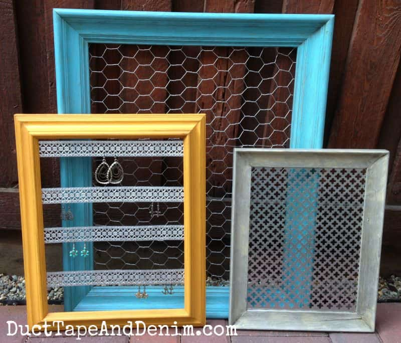 Custom Jewelry Display Frame: How To Turn Thrift Store Frames Into DIY Jewelry Display
