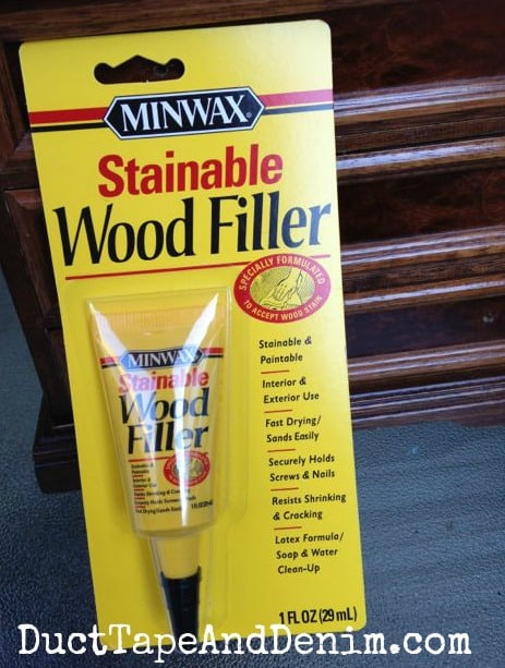 Minwax stainable wood filler | DuctTapeAndDenim.com