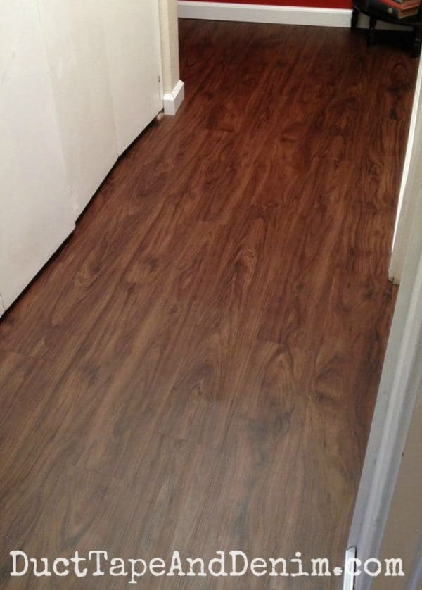 Our finished hall with Allure vinyl plank flooring | DuctTapeAndDenim.com