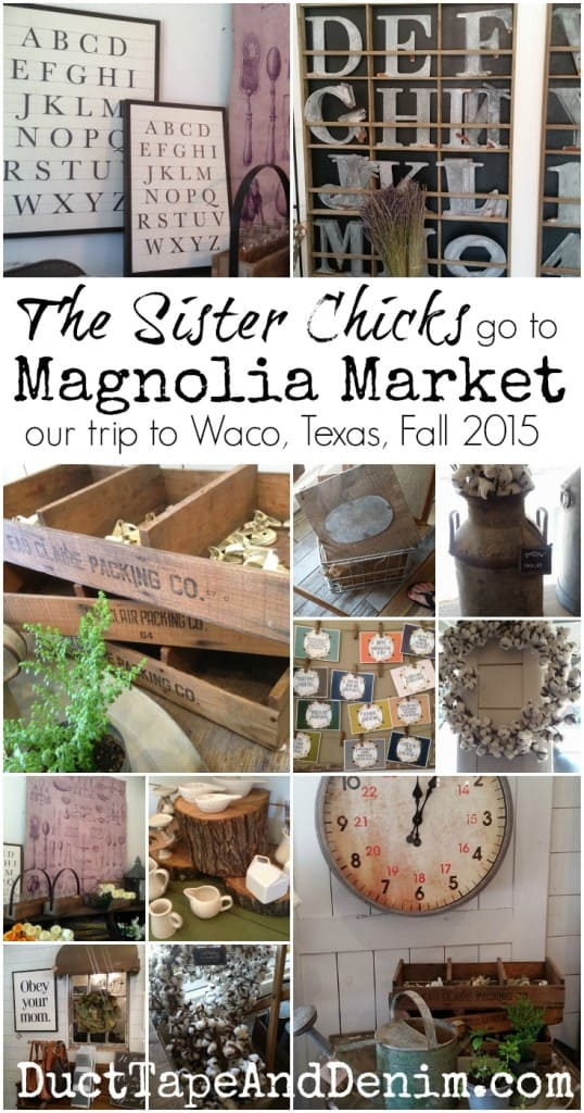 Sister Chicks go to Magnolia Market. Lots of pictures from our trip to Waco. What an amazing shop! Even better than what I imagined while watching Fixer Upper. | DuctTapeAndDenim.com