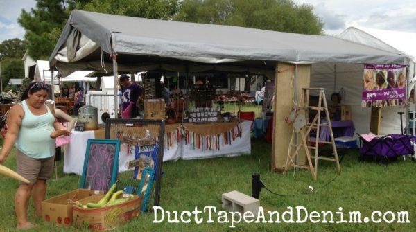 Back side of our tent at Antique Alley flea market | DuctTapeAndDenim.com