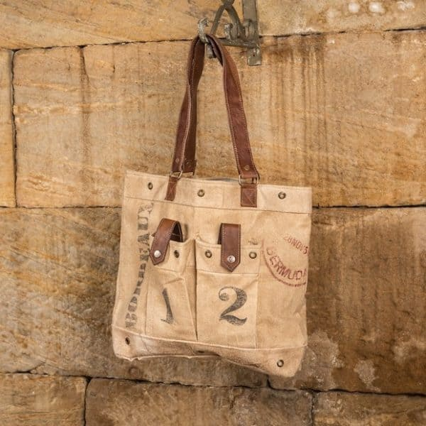 Blog - 2015 Holiday Gift Guide - Aged canvas tote bag, purse